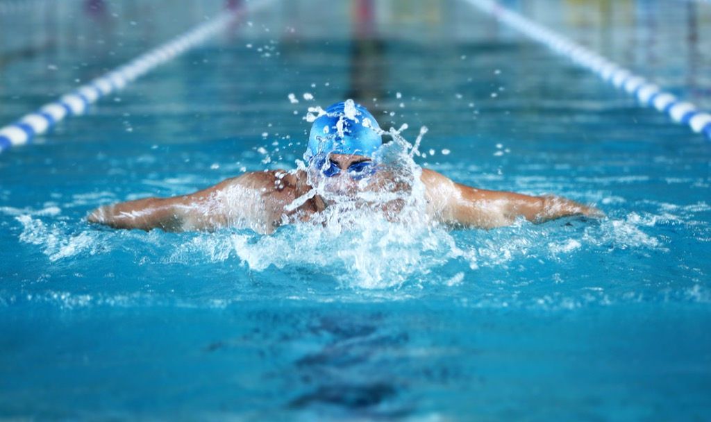 hiit workout heart health swimming