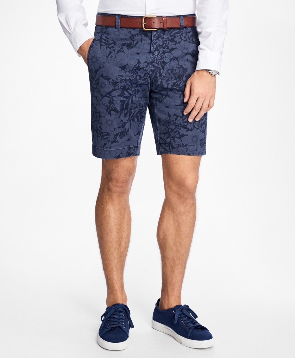 brooks brothers floral print shorts