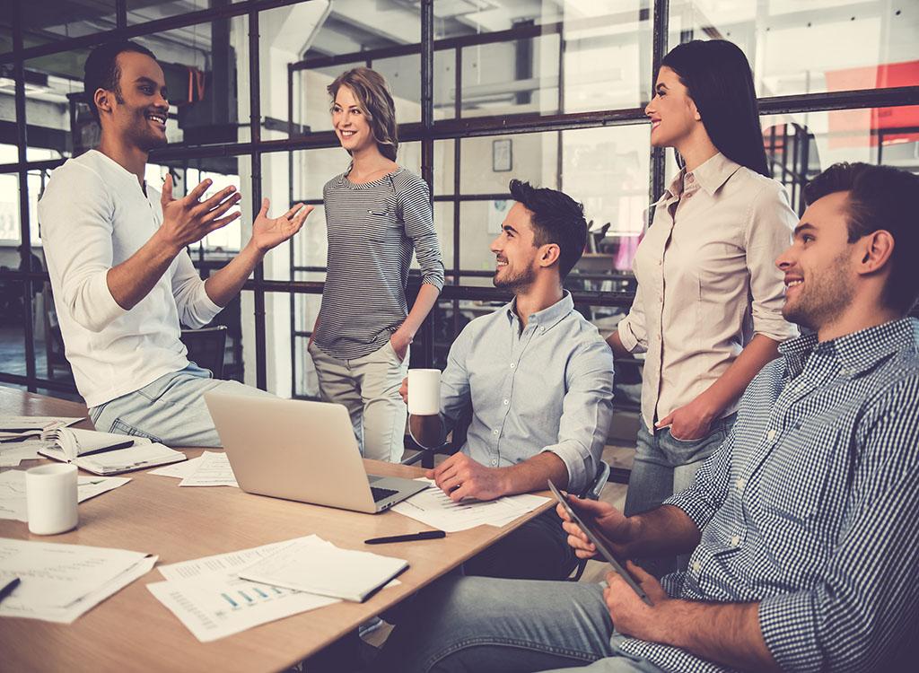 Team, business team, leadership, confident