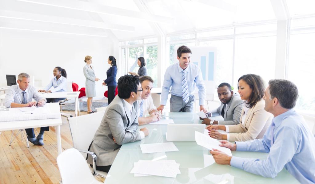 Man Leading Business Meeting Useful Random Facts