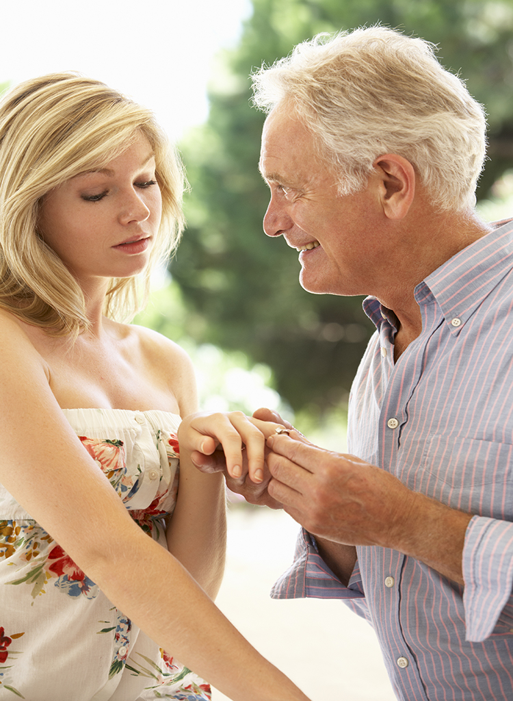 Older man with younger woman relationships with big age difference