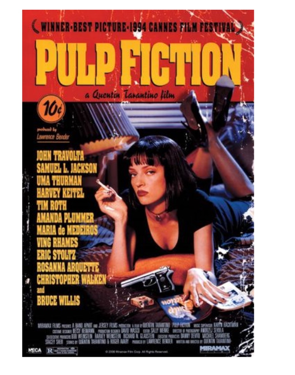 Pulp Fiction poster, what to give up in your 40s