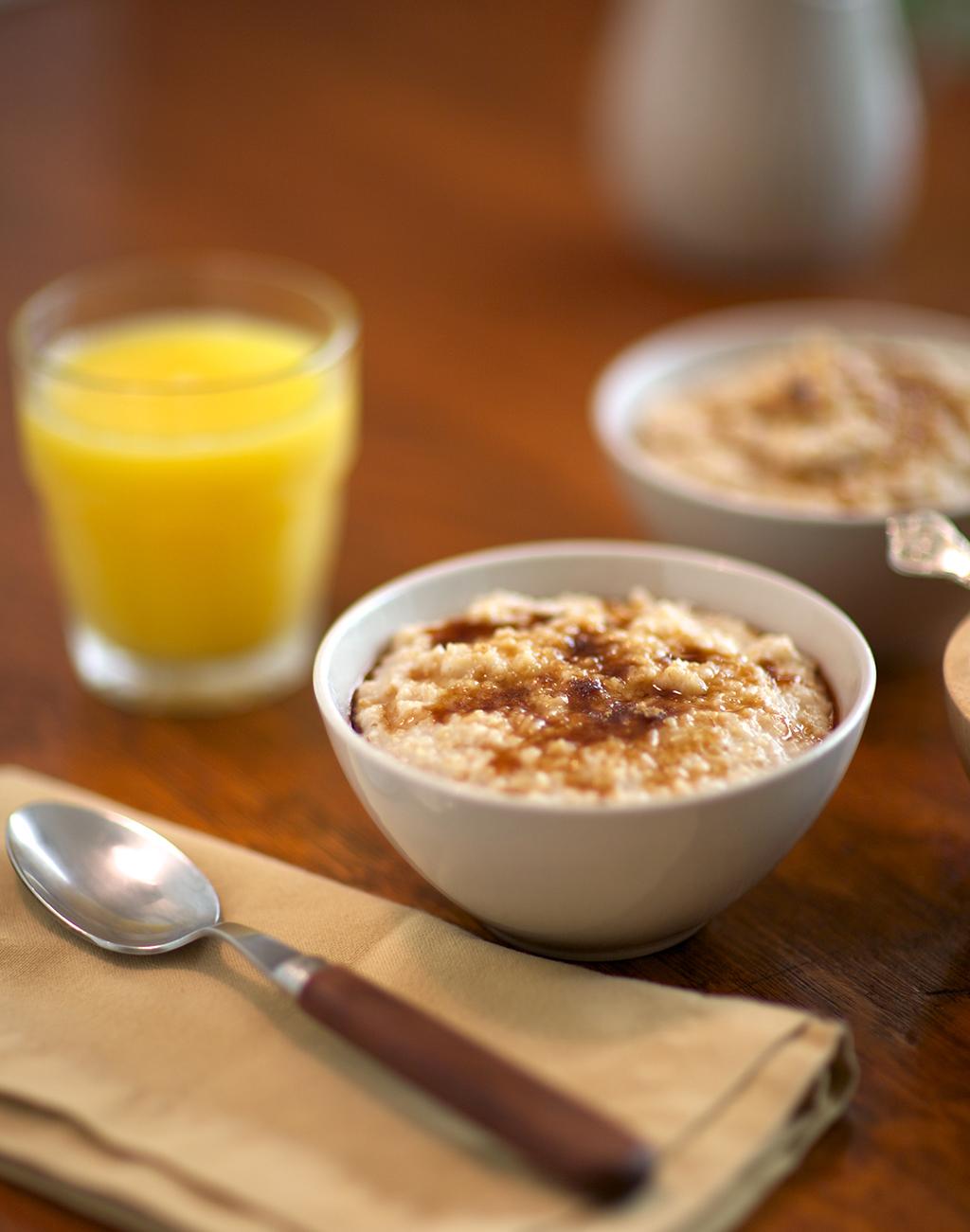 oatmeal, orange juice, food synergy younger