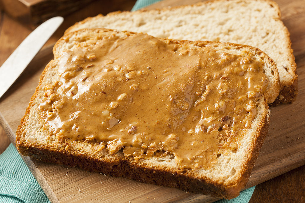 peanut butter whole wheat food combos