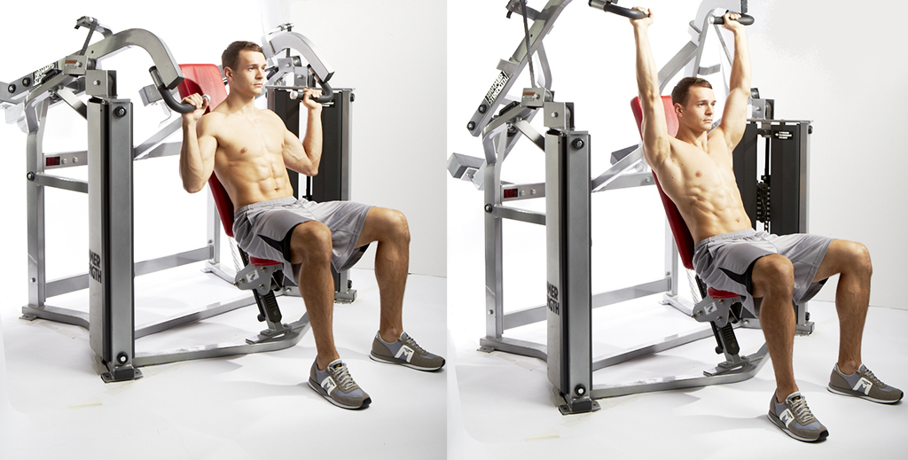 chest supported row all-machine workout