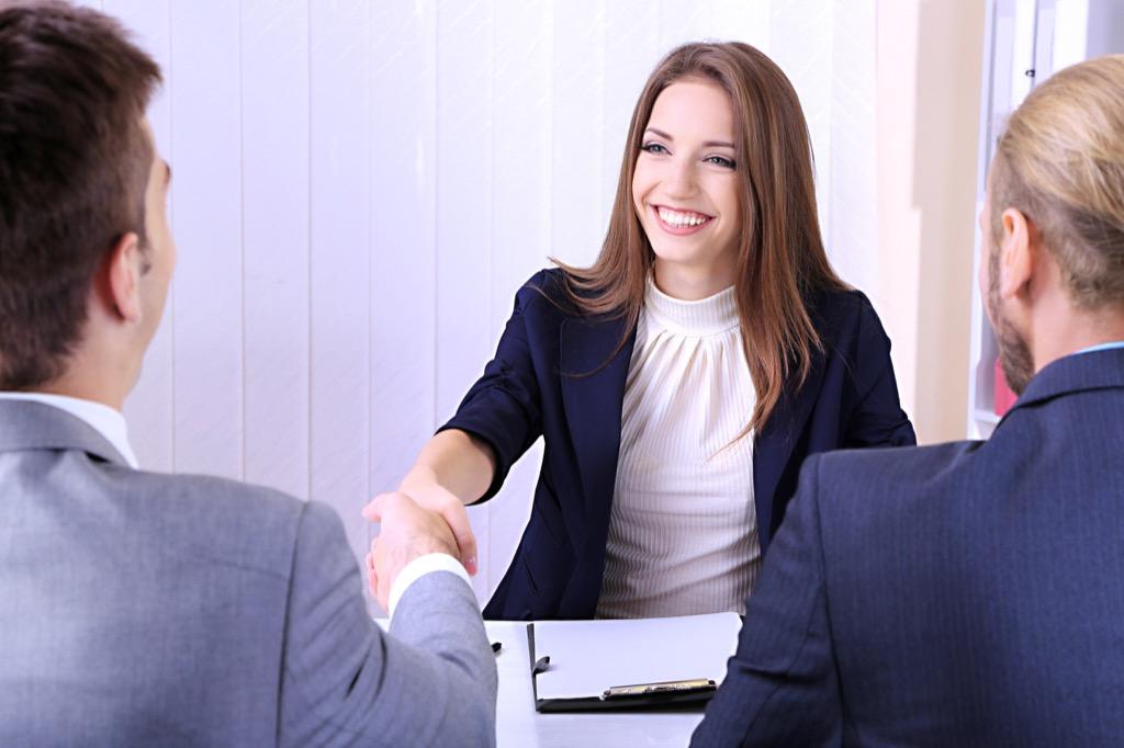 Woman at Job Interview Useful Random Facts