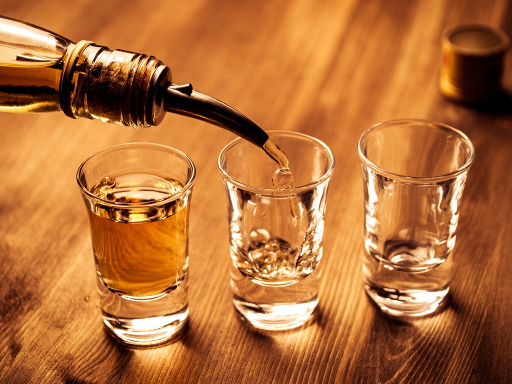 Shot glasses, what to give up in your 40s