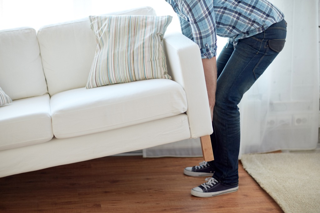 Single, moving a couch