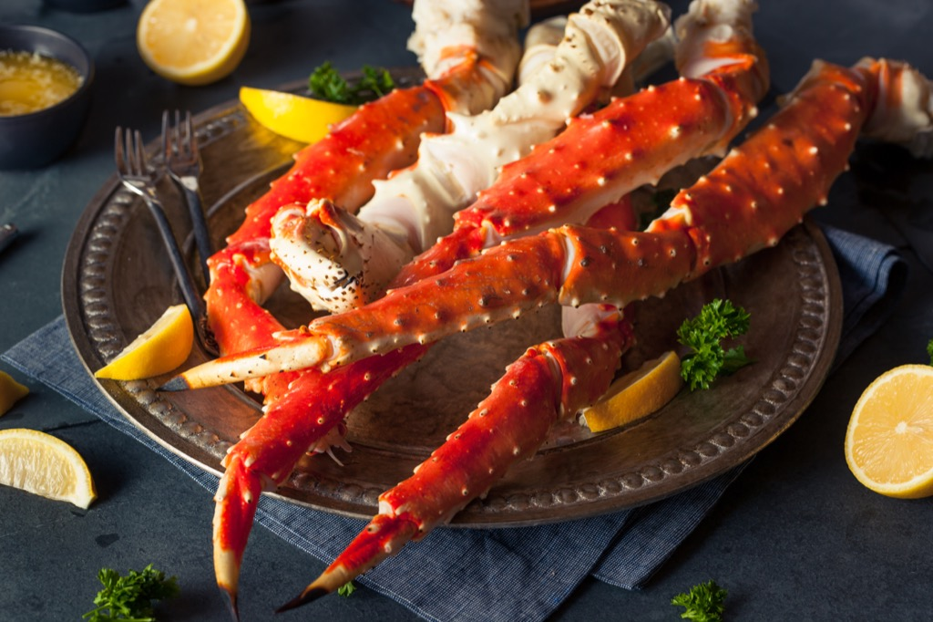king crab food over 40