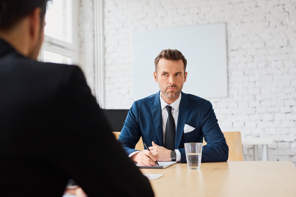 Job candidate, recruiting, interview, smart word