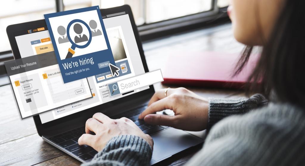 Job candidate, recruiting, job hunting sites