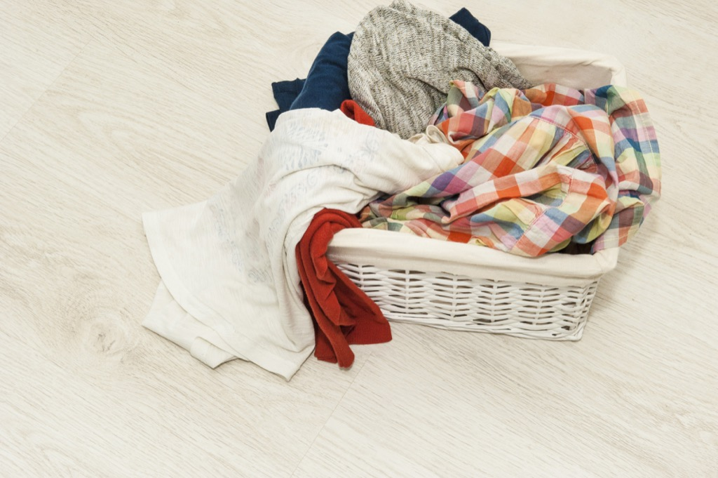 Dirty clothes, laundry Organized