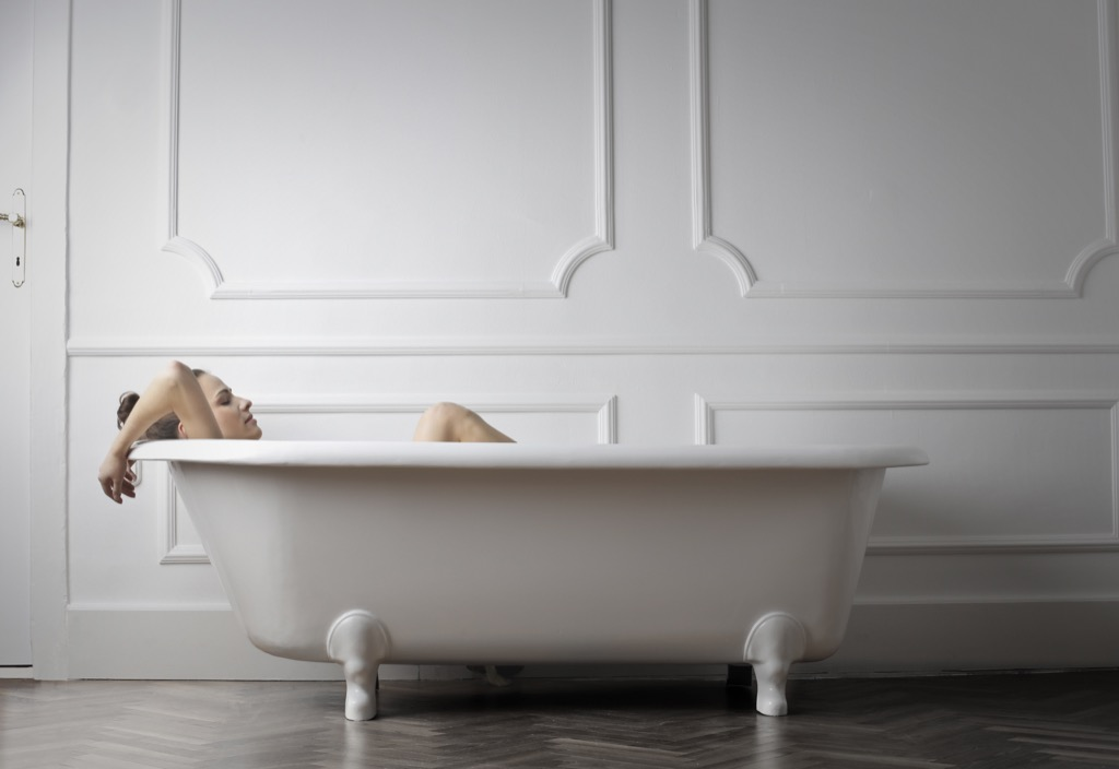 taking a bath can make you instantly happy
