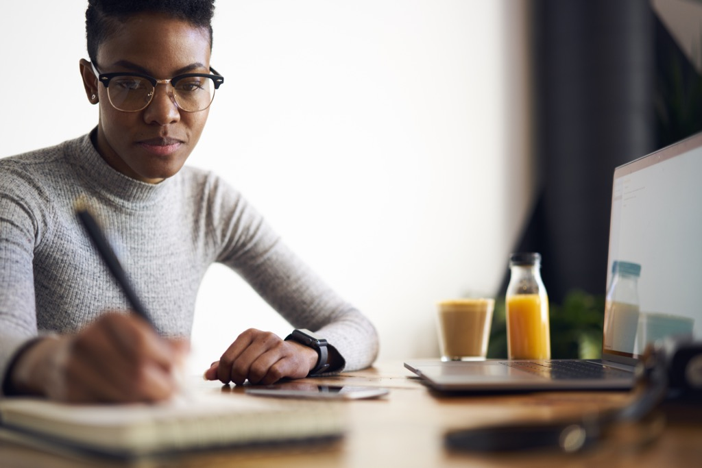woman writing love letter self-care tips