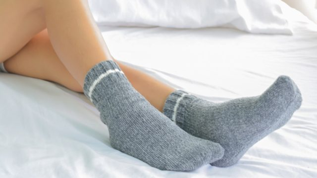 socks bed fall asleep faster
