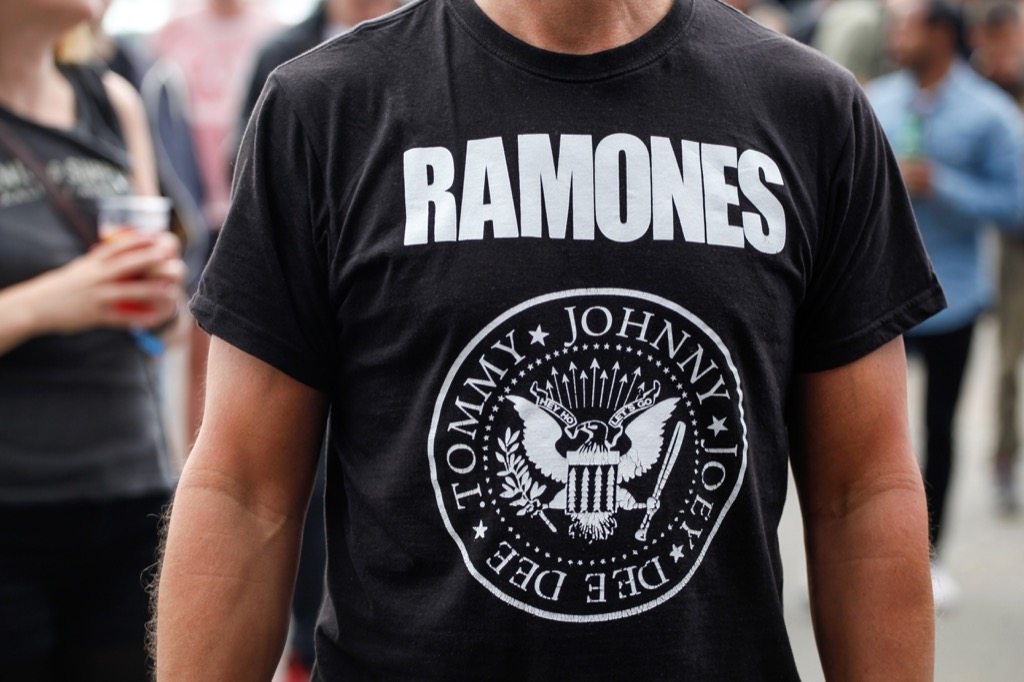 Band t-shirt, what to give up in your 40s