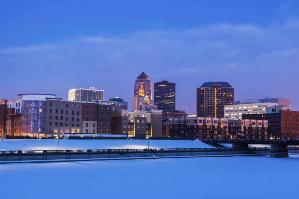 Des Moines, drunkest cities, happiest cities, longest-living cities, best cities to buy a mansion