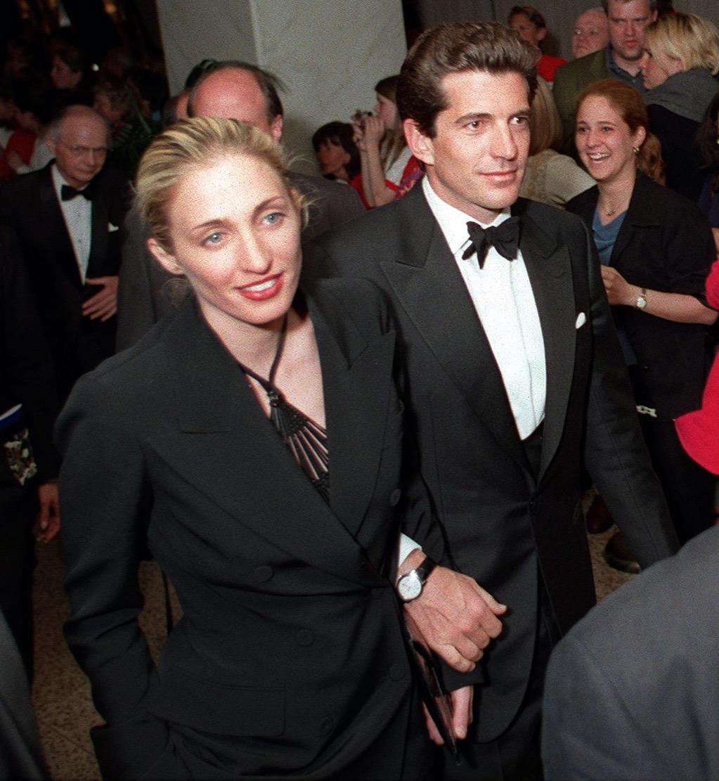 John F. Kennedy Jr. and Caroline Bissett