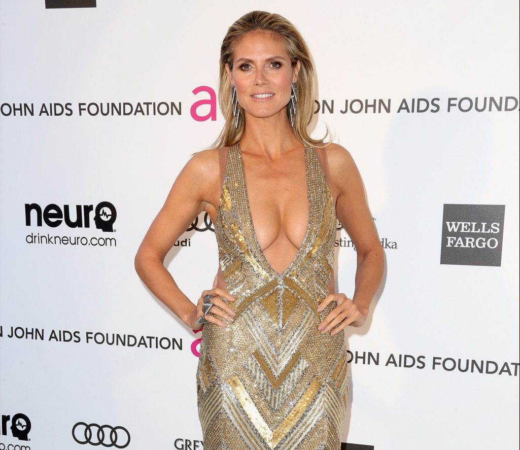 Photo by Frederick M Brown Getty Images heidi klum cleavage