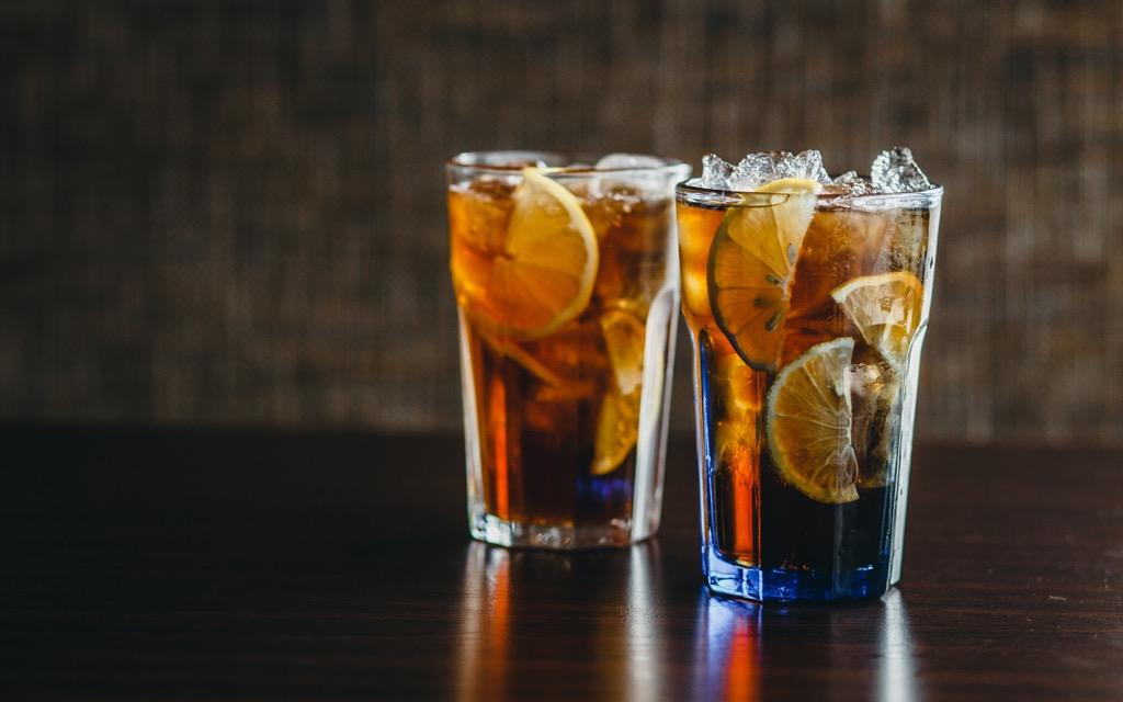 Long Island Iced Tea, Gin and Tea, cocktails