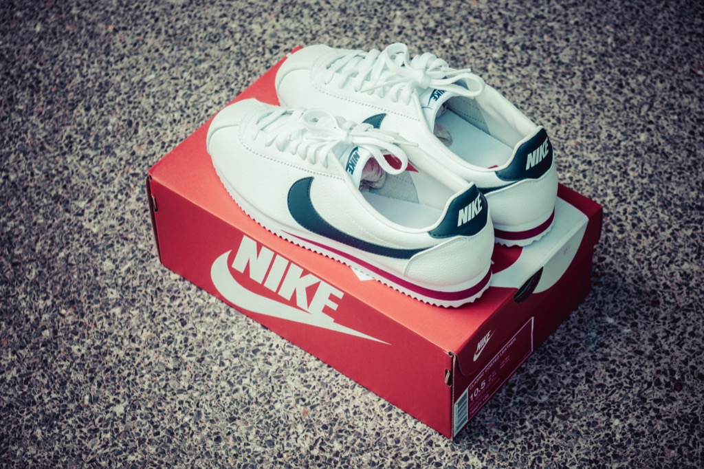 Nike Cortez shoes, great for low-maintenance upgrades