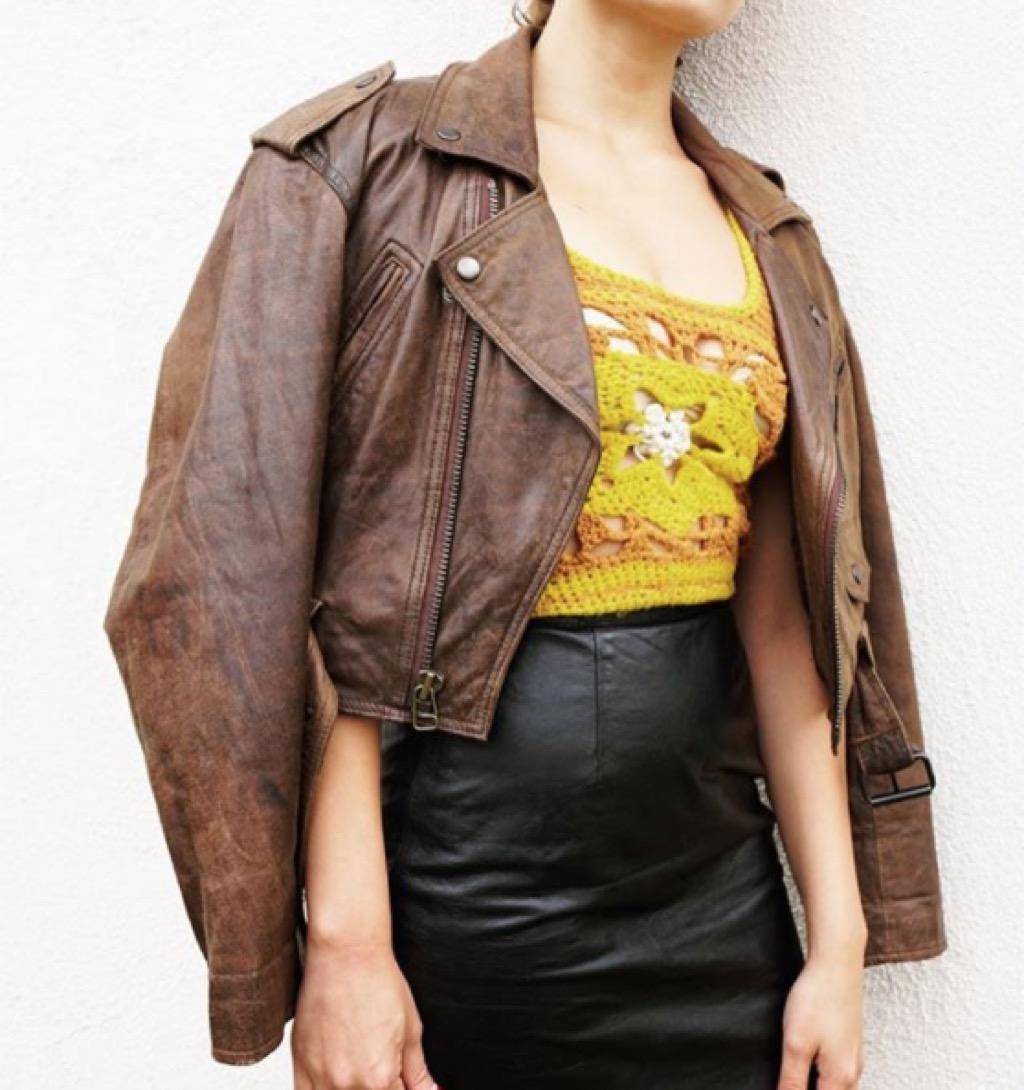 Vintage Moto Jacket, secondhand