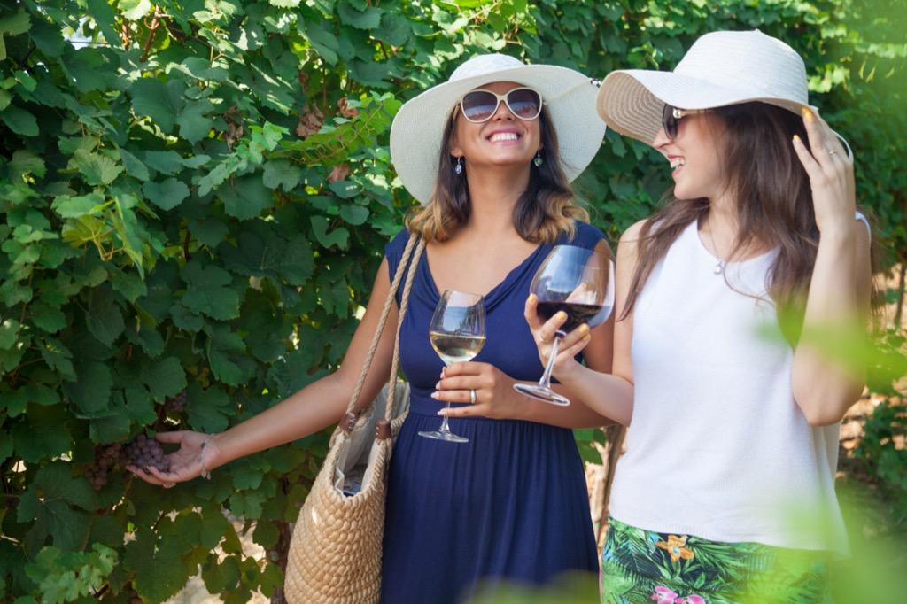 Friend date, friendship, female friendships, red wines benefits of wine