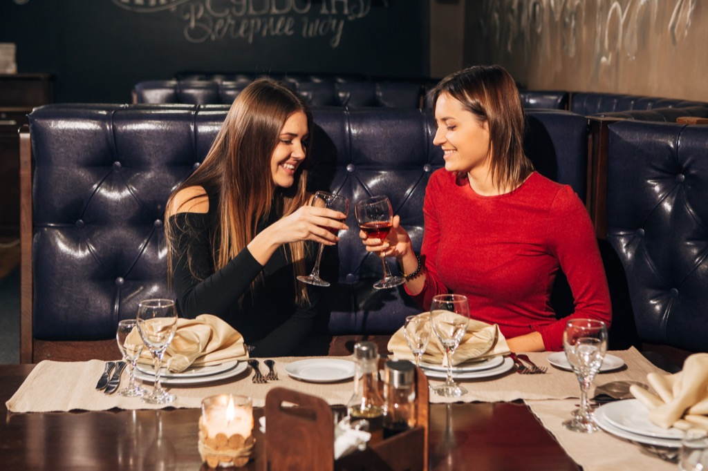 female friendships, Things You Should Always Do at a Fancy Restaurant