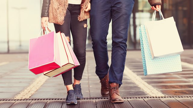 couple shopping together {Post-Holiday Sales}