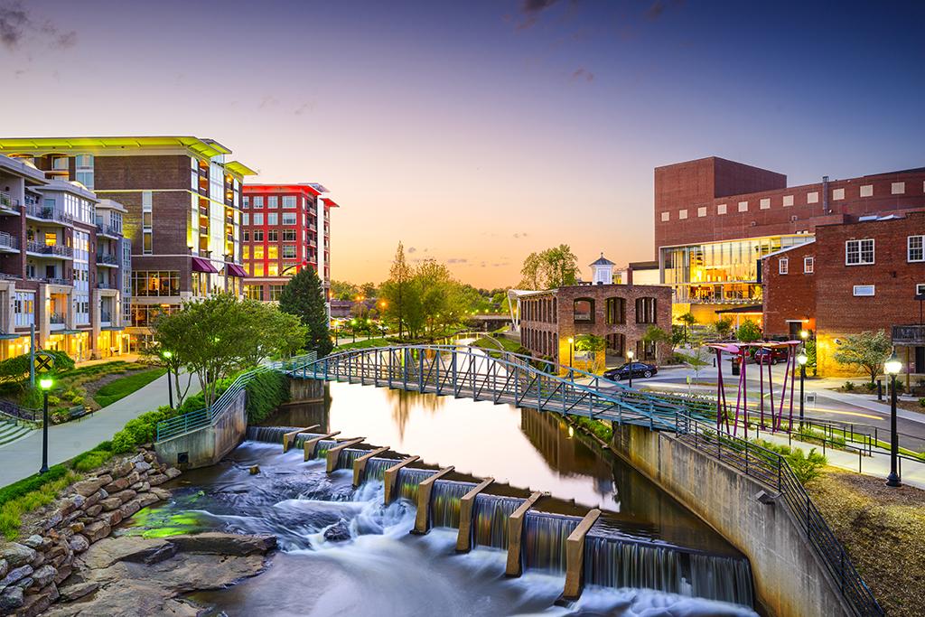 Greenville South Carolina American Cities Vacation Destinations