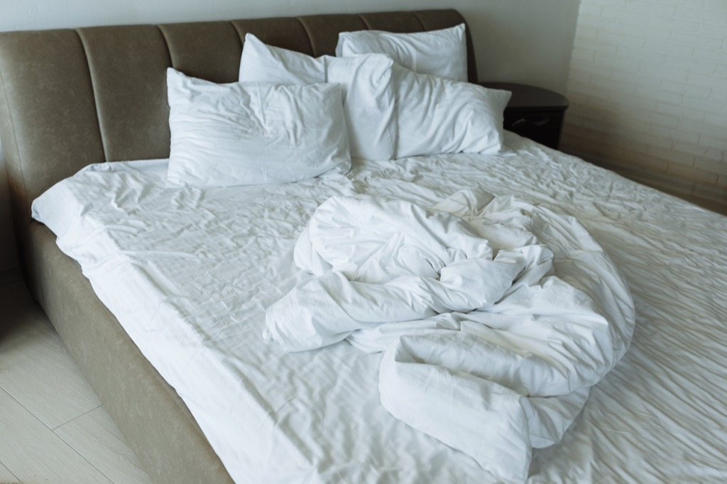 sheets on bed things in your house attracting pests