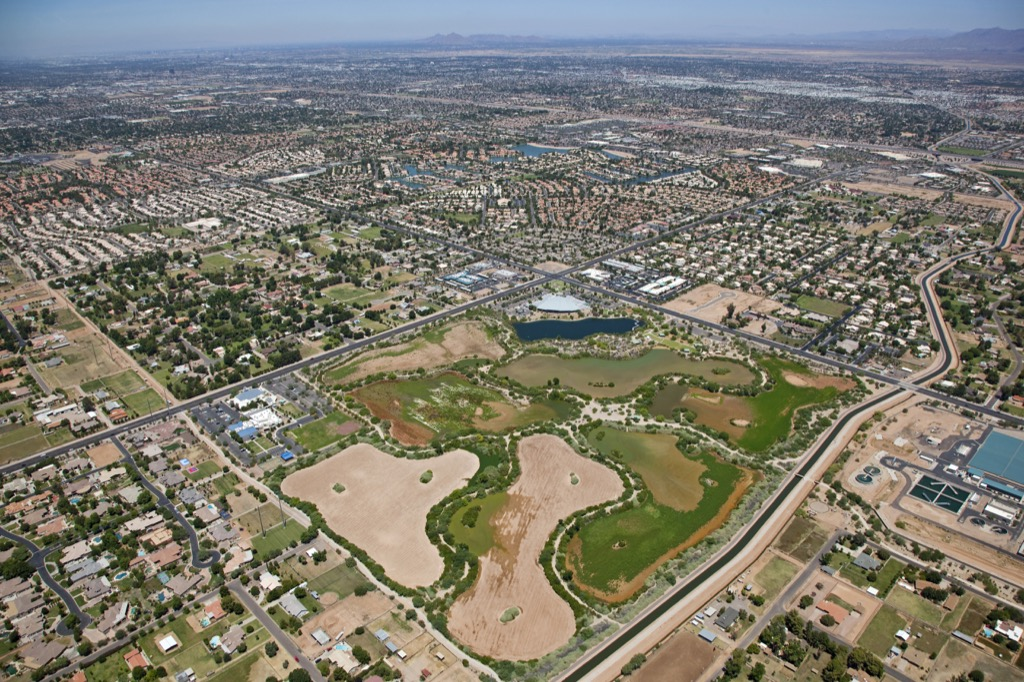 Gilbert, happiest cities, fittest cities, longest-living cities, healthiest cities, worst singles scenes, best cities to buy a mansion, longest commutes, commute