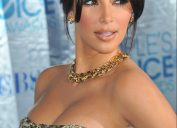 kim kardashian cleavage