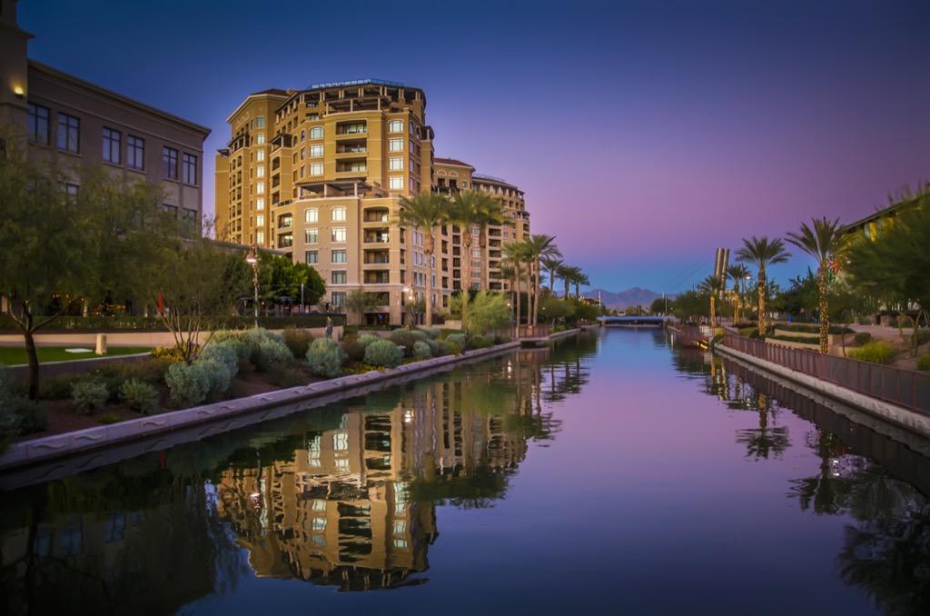 Scottsdale, drunkest cities, happiest cities, fittest cities, longest-living cities, healthiest cities, best singles scenes