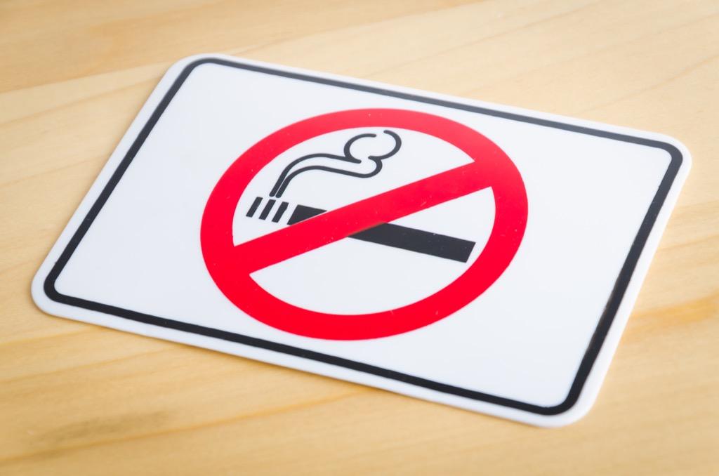 Smoking ban, no smoking sign, scandalous