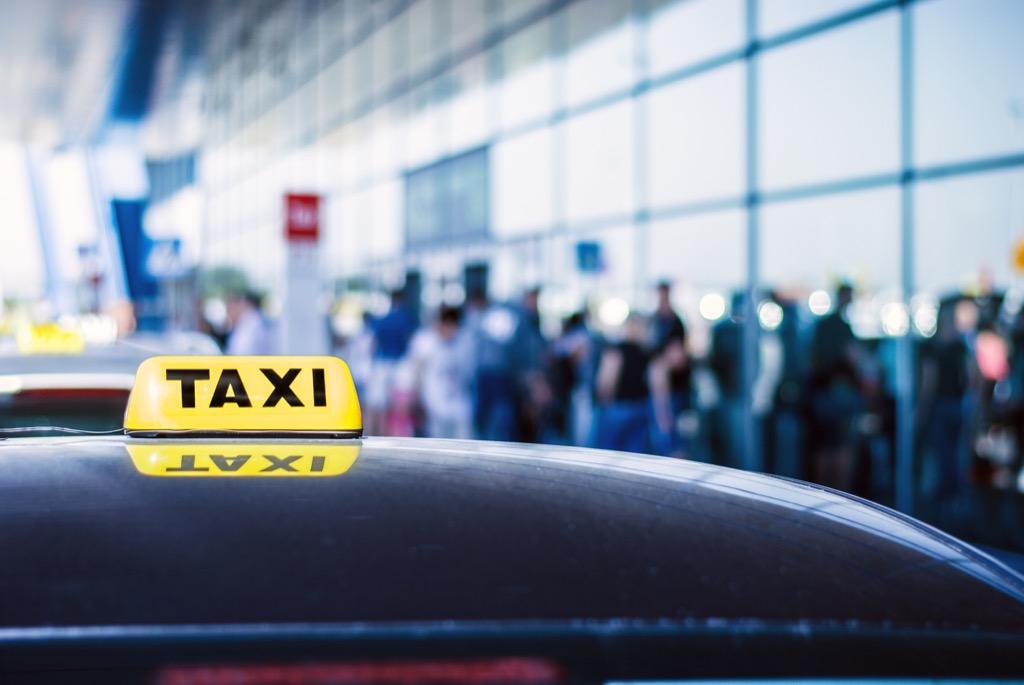 Travel, airport cab
