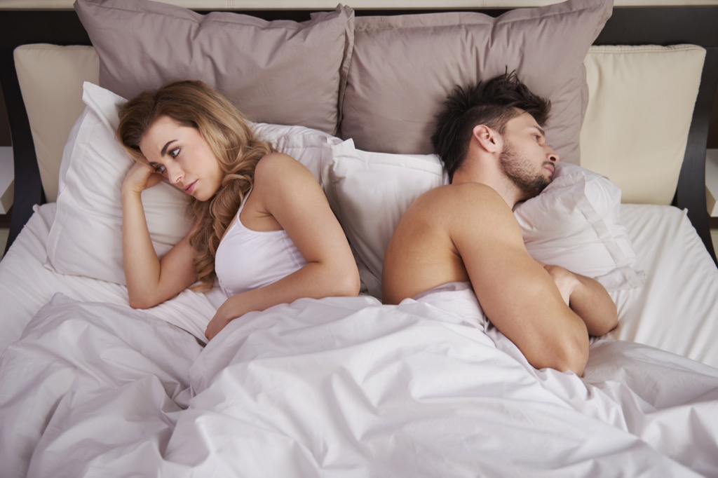 erectile dysfunction having sex couple in bed sad, after sex