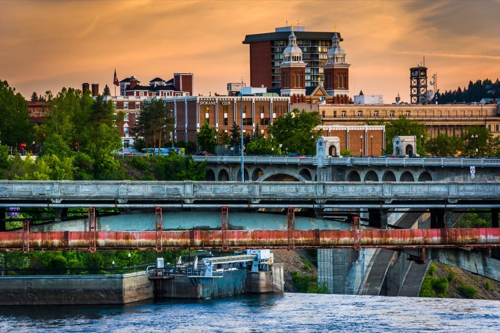 Spokane, fittest cities, drunkest cities, happiest cities