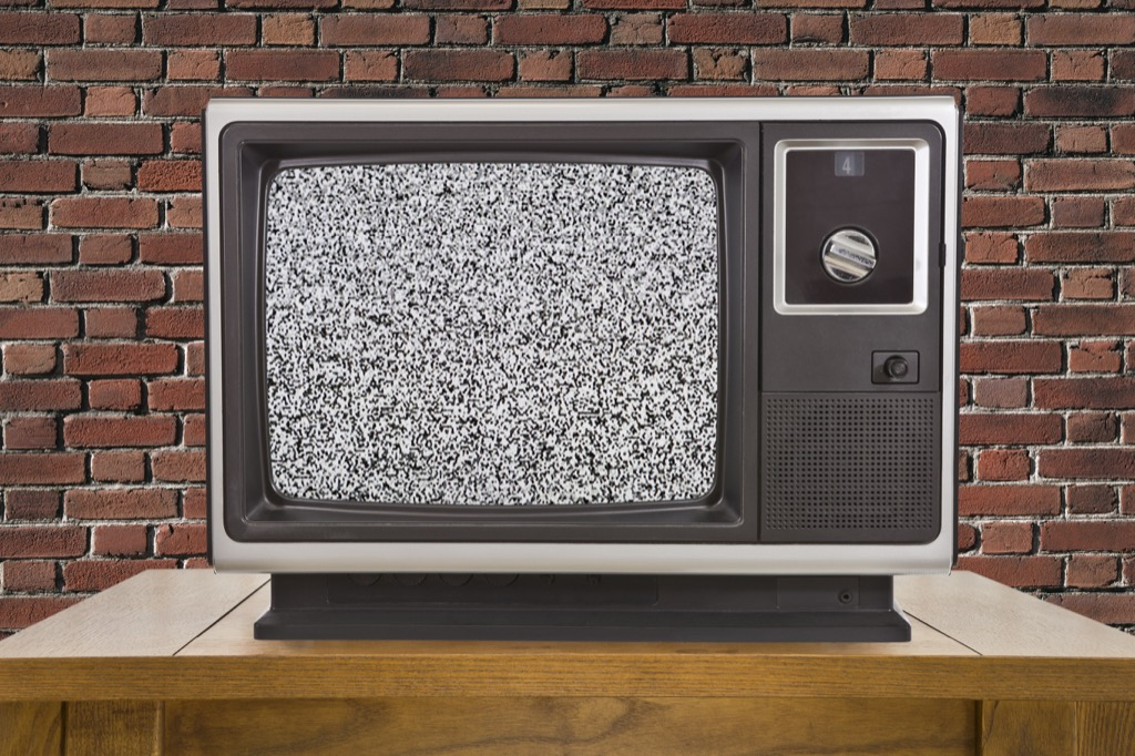 Obsolete things, television static
