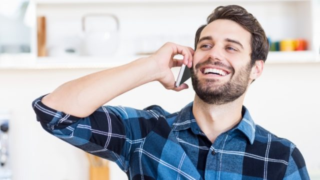 man talking on phone, hings not to say to customer service rep