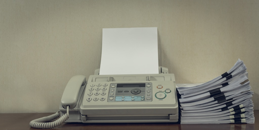 fax machine obsolete home items