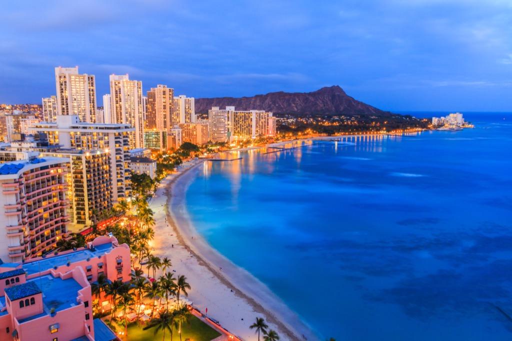 Honolulu, happiest cities, drunkest cities, fittest cities, healthiest cities, best singles scenes