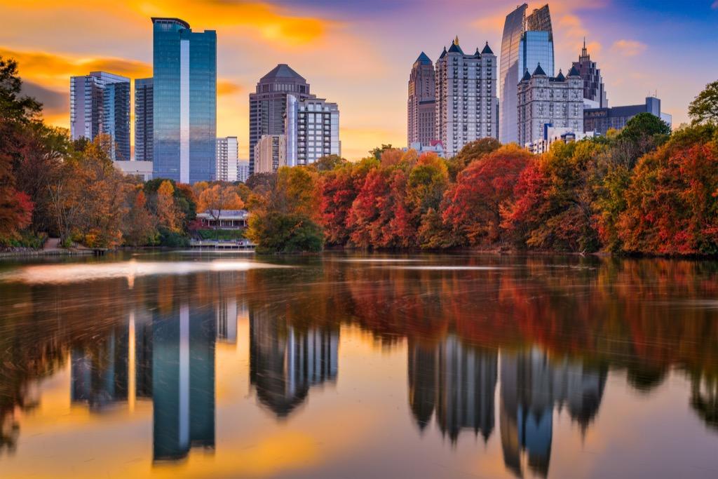 Atlanta, happiest cities, drunkest cities, fittest cities, best singles scenes