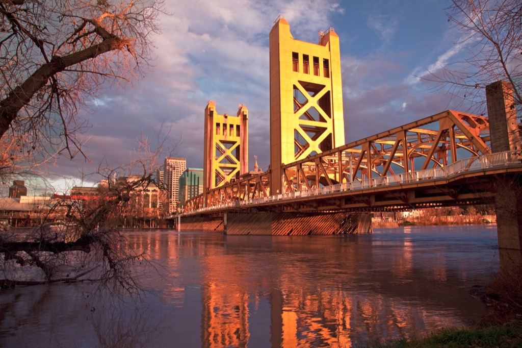Sacramento, happiest cities, fittest cities