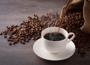 Coffee cup, coffee beans - benefits of coffee