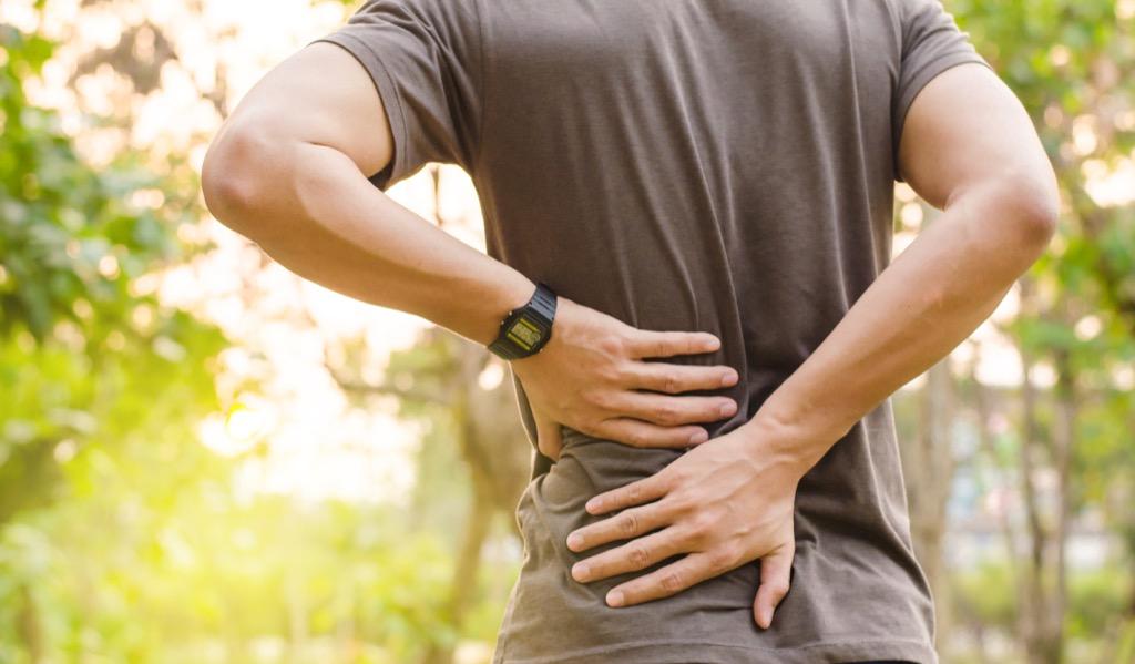 man with chronic pain having sex