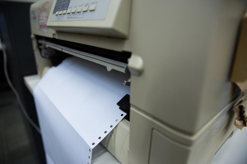 Obsolete things, Dot-Matrix Printer