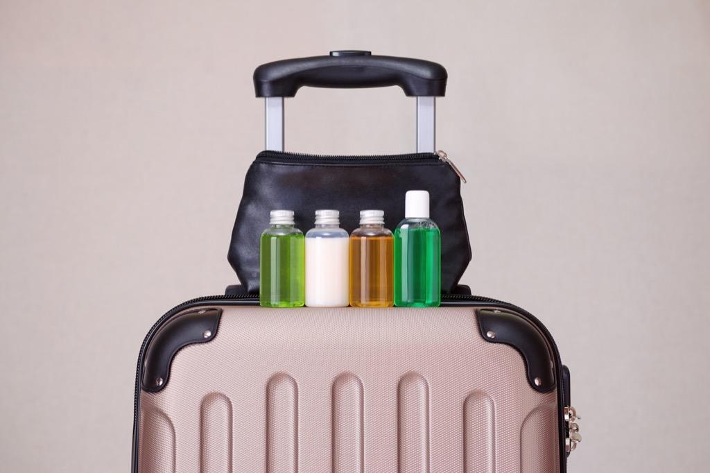 Travel, travel toiletries airport secrets