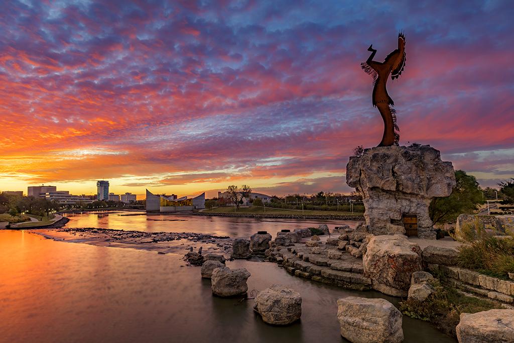 Wichita kansas keeper of the plains statue famous state statues
