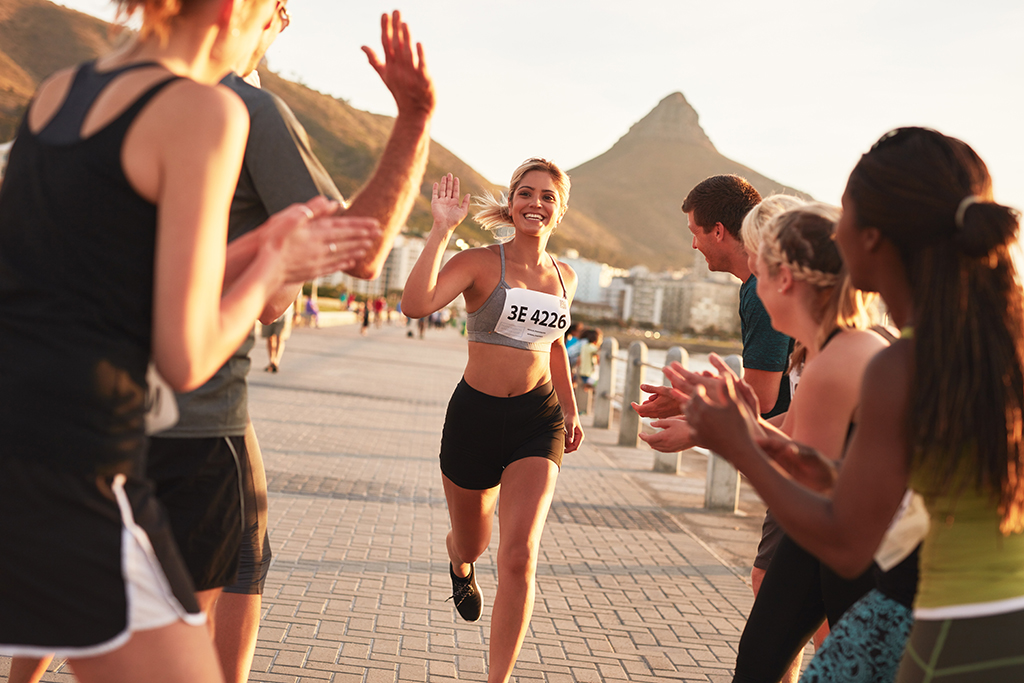 keeping secrets, woman running, race